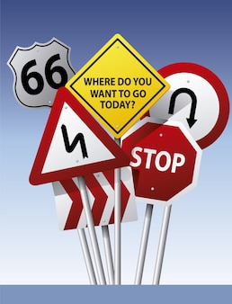 Contexte des panneaux routiers