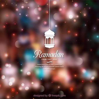 Contexte du ramadan avec effet flou