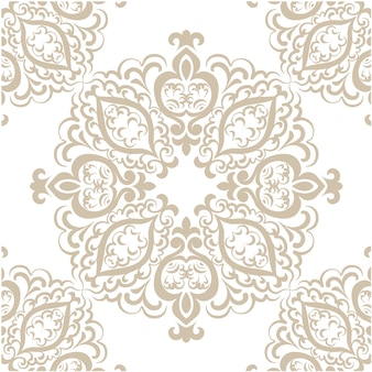 Contexte Golden Ornamental Pattern