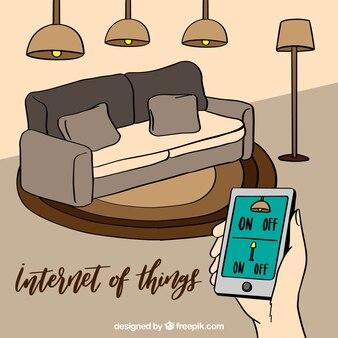 Contexte Internet des choses dans le salon