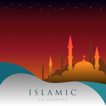 Contexte islamique Sunset Stars