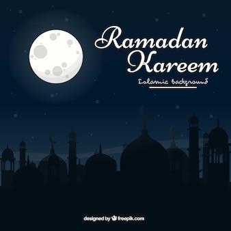 Contexte nocturne de ramadan kareem