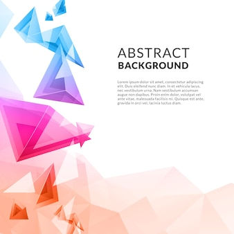 Contexte polygonal Triangle abstrait