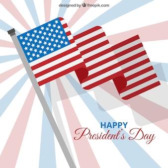 Contexte pour le jour du président avec le drapeau états unis