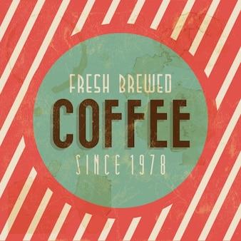 Contexte Retro Vintage Café avec Typographie