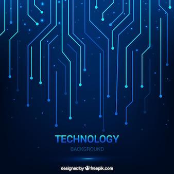 Contexte technologique avec des lignes
