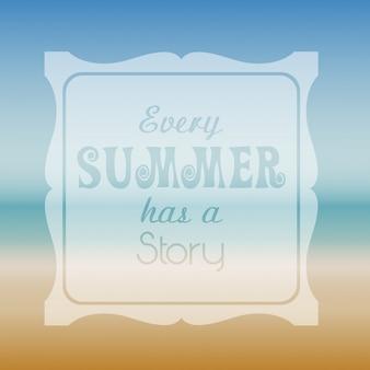 Contexte thématique d'été avec typographie