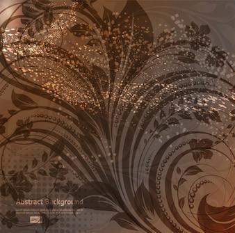 Contour élément artistique papier peint naturel