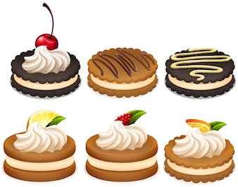 Cookies Sandwich avec Crème Illustration