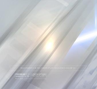 Couche blanche ligne de fond gris