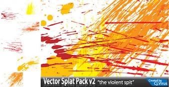 Couleur Splatter Vecteur libre