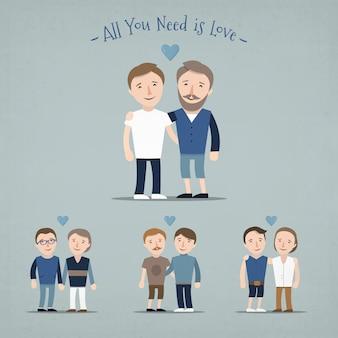 Resultado de imagem para gay couple cartoon
