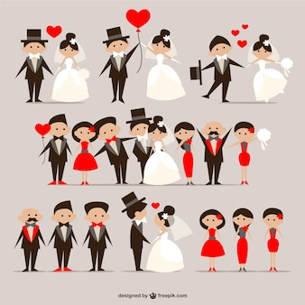 Couples de mariage emballent