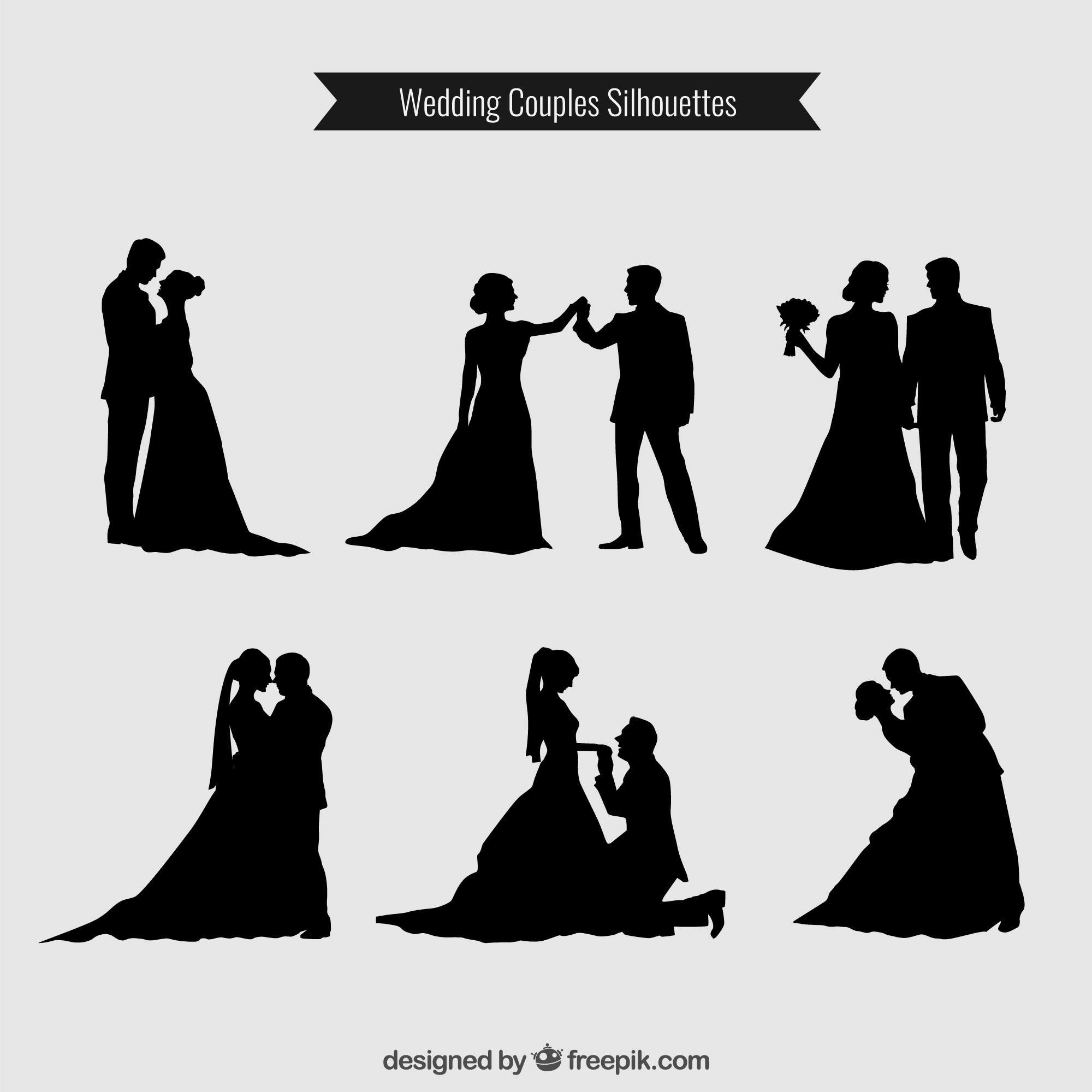 Couples de mariage Silhouettes Collection