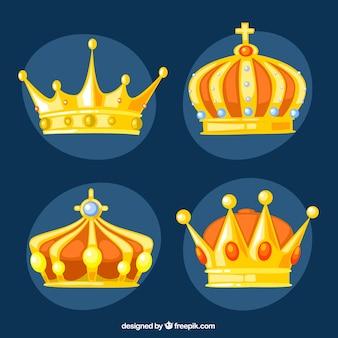 Couronnes de roi d'or