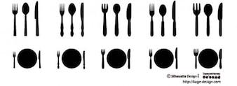 Couteau et fourchettes