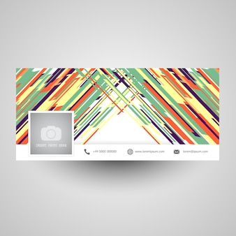 Couverture de médias sociaux avec un design abstrait