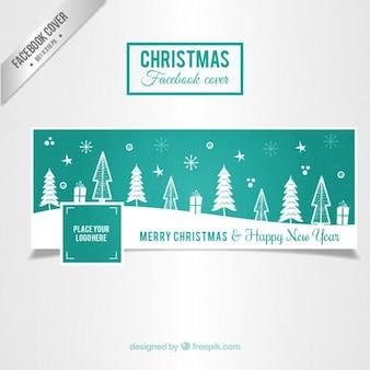 Couverture de Noël Turquoise pour Facebook