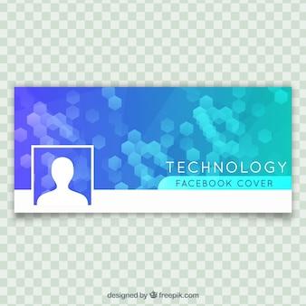 Couverture Facebook avec hexagones