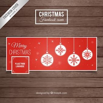 Couverture rouge de Noël pour Facebook