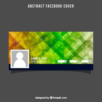 Couverture sommaire de Facebook avec effet bokeh