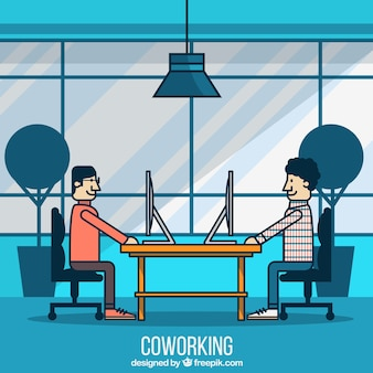 Coworking concept illustration