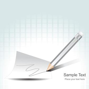 Crayon vecteur écrit sur papier