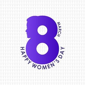Creative 8 lettrage Mars Journée de la femme sur fond de modèle