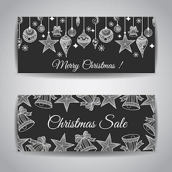 Creative bannières de Noël Designs