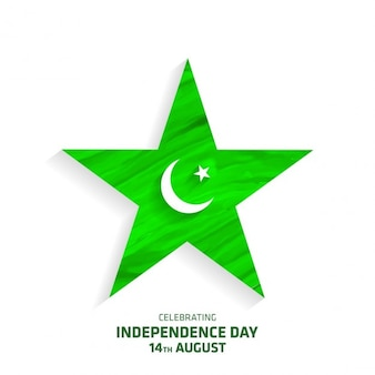 Creative Big Star avec la Lune Pakistan Independence Day
