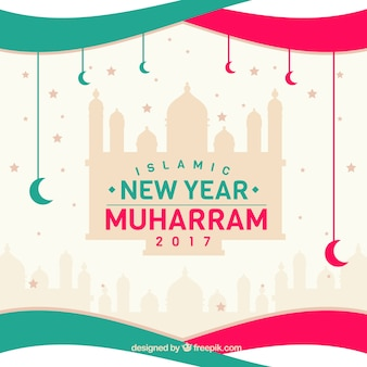 Creative islamic new year background