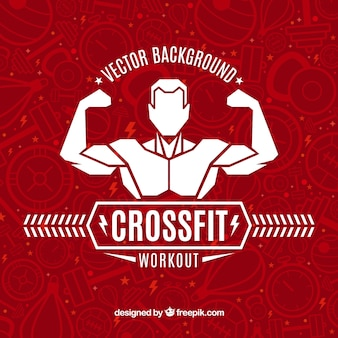 Crossfit vector background