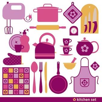 Cuisine fond icône