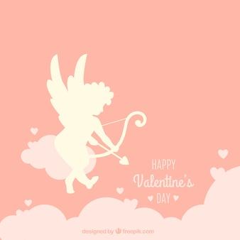 Cupidon silhouette fond dans le ciel