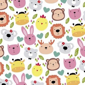Cute animals tête fond