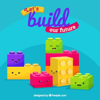 Cute blocks backgrounc