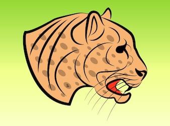 Dangerous clip art vecteur Jaguar