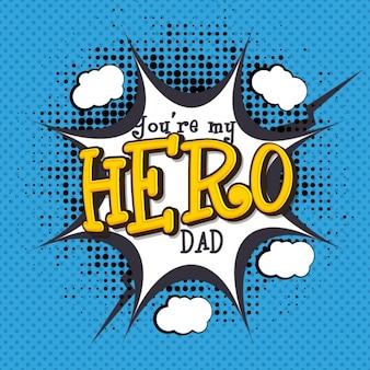 Day background de Halftone père dans le style comique