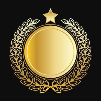 De beaux couronnes dorées