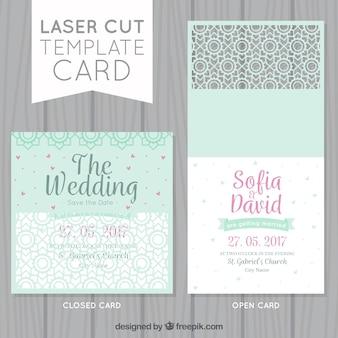 De belles cartes de mariage ornementales