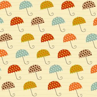 De fond avec des parapluies