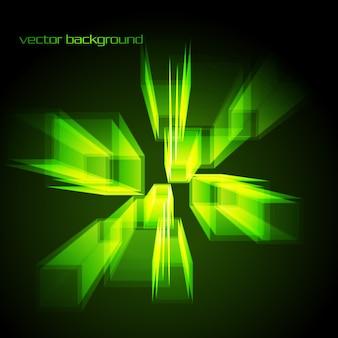 Décor de vecteur abstrait élégant en couleur vert incandescent