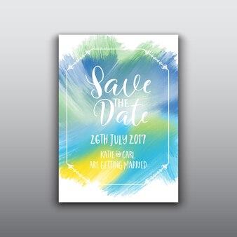 Décoratifs économise le fond de la date avec la conception d'aquarelle