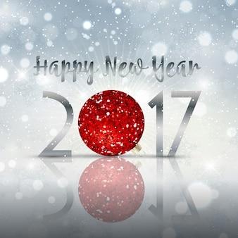 Decorative Happy New Year babiole fond