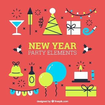 Définir de nouveaux éléments ans du parti dans la conception plate