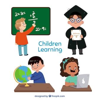 Définir des enfants à l'école