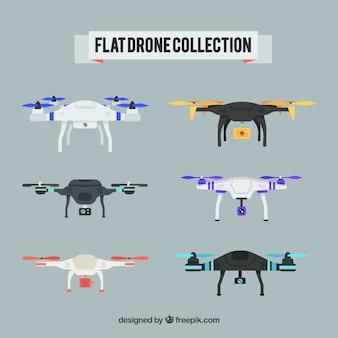 Des drones professionnels avec un design plat