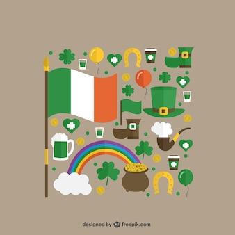 Des éléments mignons de St Patricks jour