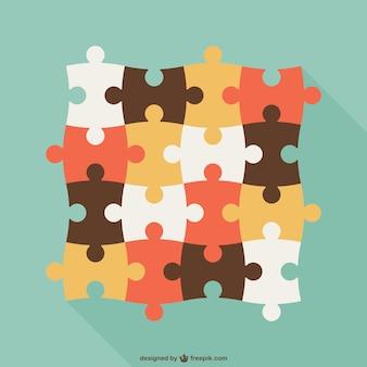 Des pièces de puzzle cru