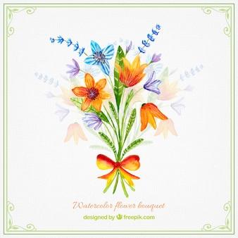 Design Aquarelle fleur bouquet